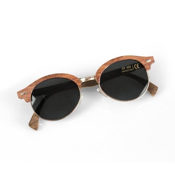 3c8666b10d08c Real Walnut Wood Designer Clubmaster Sunglasses
